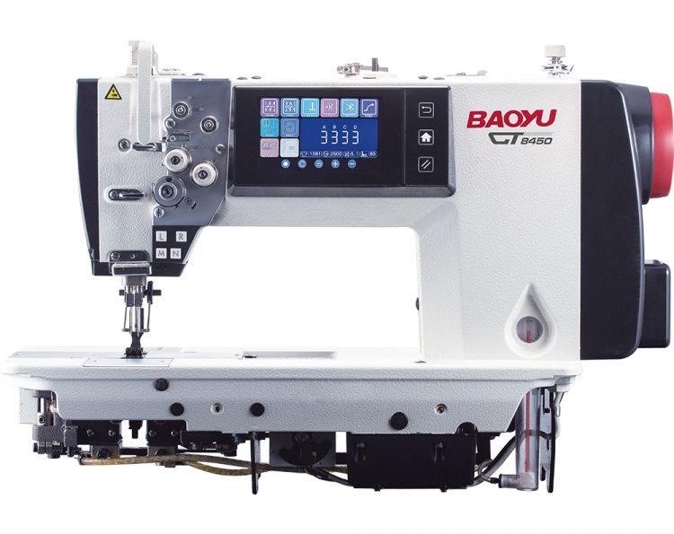 Baoyu GT-8450-3 | Computer double needle sewing machine with color touch screen