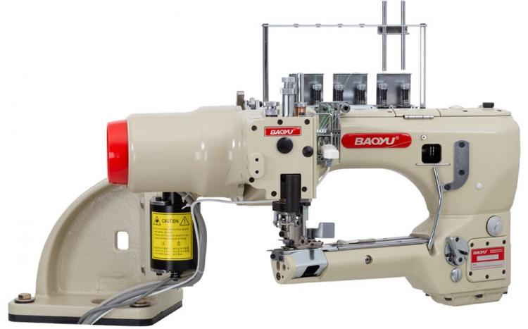 Baoyu BML-740-02-SL | Flatlock sewing machine with double cut and vacuum waste collector